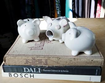 INSTANT COLLECTION... three little vintage ceramic piggy banks