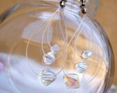 Floating Crystals Earrings (Clear AB)