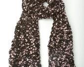Merino Wool Eyelash Scarf- Light Pink (ready to ship)