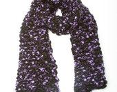 Wool Scarf- Merino Wool Eyelash Scarf- Purple (ready to ship)