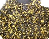 Merino Wool Eyelash Scarf- Gold (ready to ship)