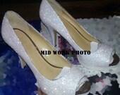 Made to Order - Wedding/Bridal/Prom Glitter Heels