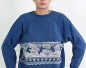 Vintage Blue Ski Sweatshirt