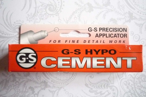 G-S Hypo Cement with Precision Applicator for Fine Detail Work Multi-Use Adhesive Dries Clear - Size One Third Fluid Ounce Tube (9 ml)