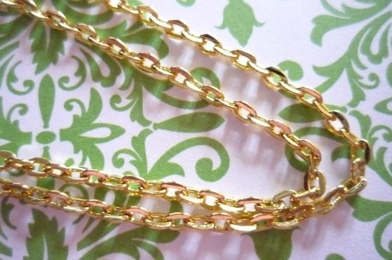 Small 2mm Link 18 inch Gold Necklace with Spring Ring Clasp - Qty 2