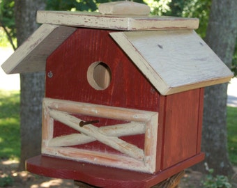 Red Barn Birdhouse (Large Birdhouse)