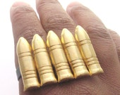 SALE Use Code baby10 for 15% Off Bullet Two Finger Ring