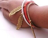 SALE Use Code baby10 for 15% Off Feather Charm Bangle
