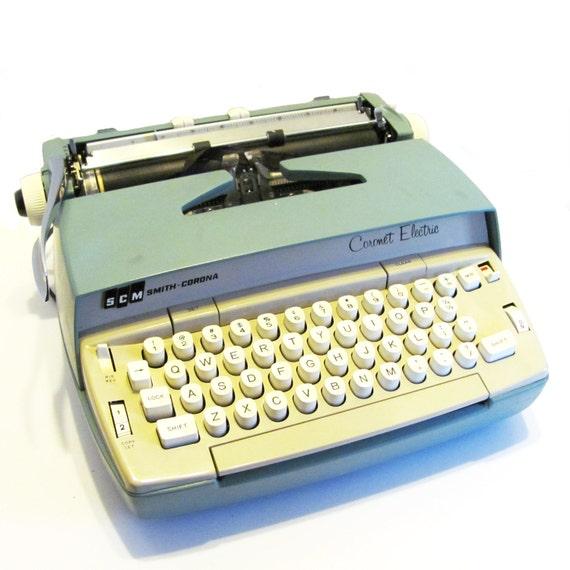 vintage electric Smith Corona typewriter