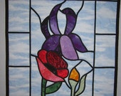 Quilted Stained Glass Flowers