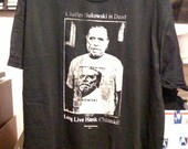 fuckup Charles Bukowski Hank Chinaski Black Tshirt Large Fruit o' the Loom screenprint