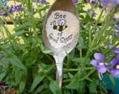 Vintage Spoon Bee of Good Cheer Plant Decoration