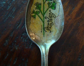 Vintage Spoon Parsley Plant Marker