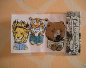 Lions and Tigers and Bears Handmade Stickers