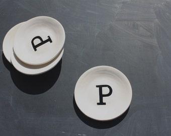 Monogram Appetizer plates (set of 4)