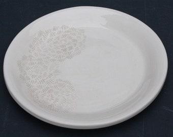 Floral Design Garlic Plate