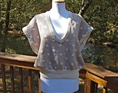 vintage 80s NEUTRAL short sleeve sweater