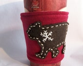 5 dollars off Snowflake Bear  Drink Sleeve
