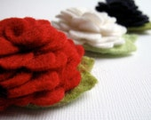 PICK ONE - Lush patriotic felt flower headband or hair clip - fourth of July, red white and blue, 4th of July