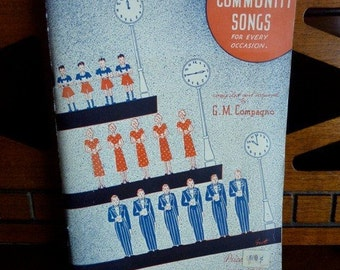 Vintage 1938 TIME To SING Songbook Antique Americana Music Sing a Long