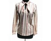 1970s Blouse- Medium- Long Sleeve