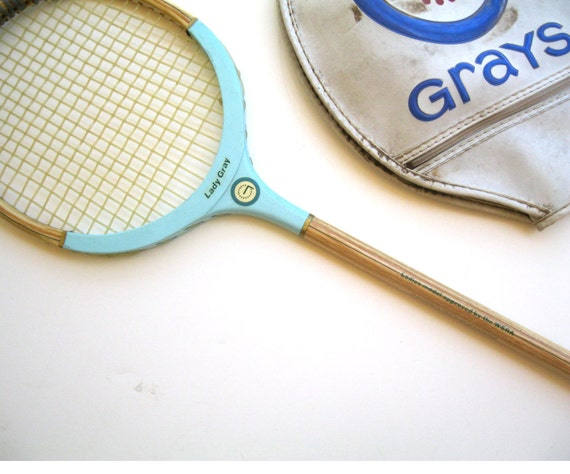 Wood Badminton Racquet- Grays of Cambridge- Aqua