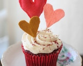 Hearts Cupcake Toppers