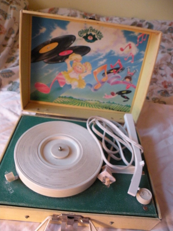 1983 Cabbage Patch Kids Phonograph Record Player