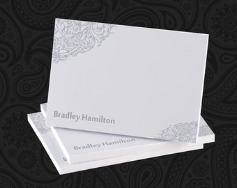 4 x 3 Personalized Steely Scrollwork Post-it Notes - Great Gift - BEST SELLER