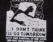 Anti Work Anarchist activist patch punk DIY Revolution Anarchy Radical Feminist