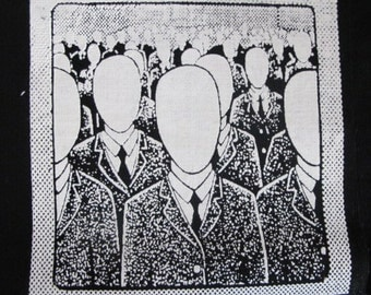 Anti Corporate Elite Anarchist Punk DIY Patch Screen Printed Radical