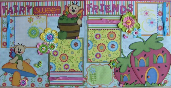 CUSTOM 20 12x12 premade pages tear bear paper piecing with album/you choose themes