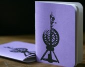 Spinning Wheel Notebook - Purple
