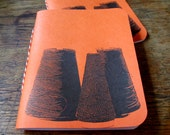 Weaving Cone Yarn Notebook - Bright Orange