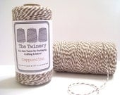 Cappuccino - Brown and White Baker's Twine - 240 yard spools