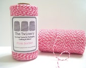 Pink Sorbet - Pink and White Baker's Twine - 240 yard spool