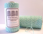 Caribbean - Teal and White Baker's Twine - 240 yard spool