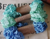 Shabby Wrinkled The Ocean Blue ribbon bundle, 15 yards