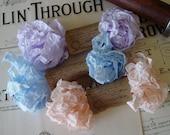 Shabby Wrinkled ribbon bundle called Shabby Pastels, 15 yards