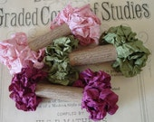 Shabby Wrinkled Marie's Rose Garden ribbon bundle, 15 yards