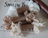 Shabby Wrinkled Antique Lace ribbon bundle, 15 yards