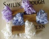 Shabby Wrinkled Winter Wonderland ribbon bundle, 15 yards