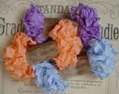 Shabby Wrinkled Orange Symphony Daisy ribbon bundle, 15 yards