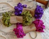 Shabby Wrinkled BERRY PATCH ribbon bundle, 15 yards