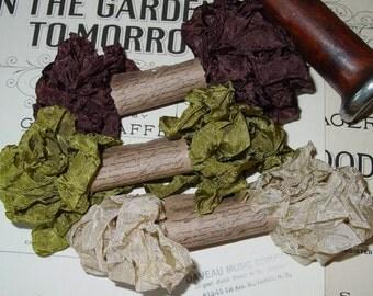 Shabby Wrinkled Woodlands ribbon bundle, 15 yards