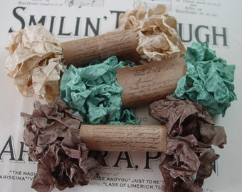Shabby Wrinkled Tranquility Ribbon Bundle, 15 yards