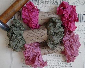 Shabby Wrinkled Antique Rose ribbon, 15 yards
