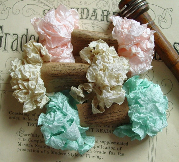 Shabby Wrinkled Sincerely Yours ribbon bundle, 15 yards