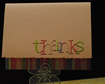 Pink thank you cards - set of four