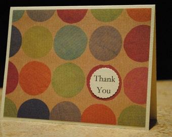 Circles Thank You Card